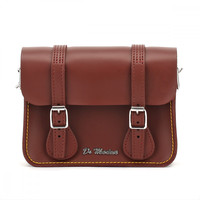 Dr. Martens Cherry Red Kiev Leather Satchel - 7-Inch