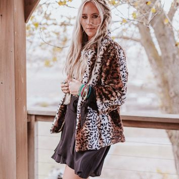 Run Wild Faux Leopard Coat