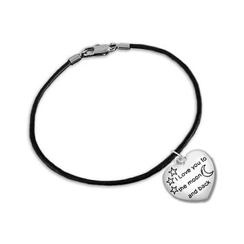 """I Love You To The Moon And Back"" Bracelet for Mental Health Awareness"