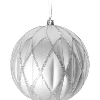 "Christmas Ball Ornament - 6 ""  - Silver"