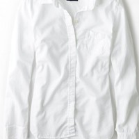 AEO Women's Long Sleeve Oxford Shirt
