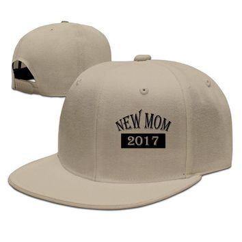 New Mom 2017 Mother's Day Gift Printed Unisex Adult Womens Hip-hop Hats Mens Baseball Cap