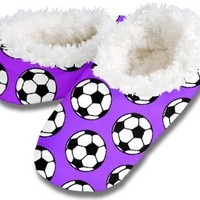 Soccer Ball - Women's Snoozies (Neon Orange - Medium)