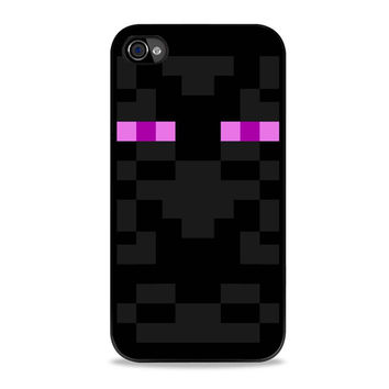 minecraft enderman skin face Iphone 4s Cases