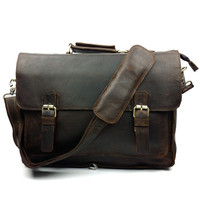 Crazy Horse Man Briefcase 2015 men shoulder  Messenger travel bags  Fashion Leather Business Men Messenger Bag