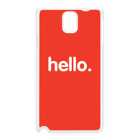 Hello White Hard Plastic Case for Galaxy Note 3 by textGuy