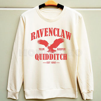 S M L -- Ravenclaw Shirt Hogwarts Shirt Harry Potter Quidditch Sweatshirt Jumpers Long Sleeve Sweater Unisex Shirts Women Shirts Men Shirts