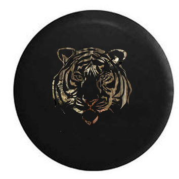 African Safari Wild Eyed Tiger OEM RV Camper Jeep Spare Tire Cover