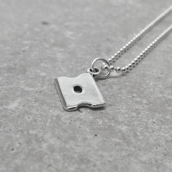 Razor Blade Necklace, Sterling Silver