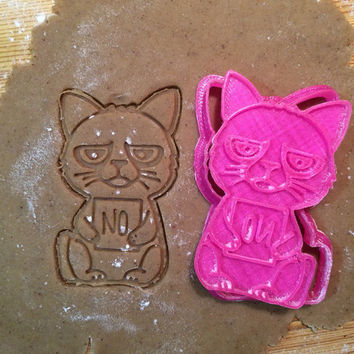 Grumpy Cat cookie cutter