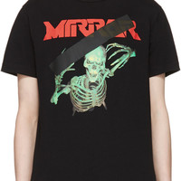 Black Skull Mirror T-Shirt