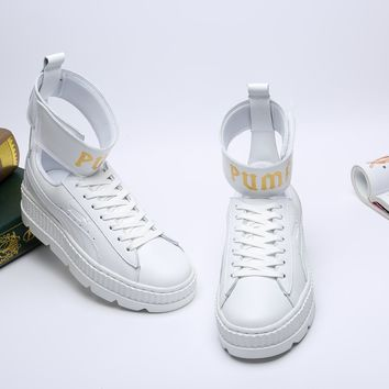 Puma/ Fenty Rihanna High Top Sneaker Color White