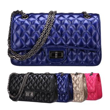 Fashion classic patent leather bag luxury brand quilted chain bag bolsas femininas Women's Shoulder Bag ladies handbags 1112