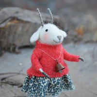 Sweety Mountain Goat- by Felting Dreams - Ready to Ship