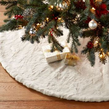 Alpaca Faux Fur Tree Skirt