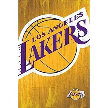 LOS ANGELES LAKERS LOGO POSTER Rare Hot New 22x34