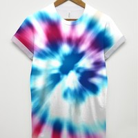 Twirl Dye All Over T Shirt