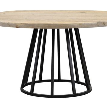 """Knox 60""""Rd Reclaimed Wood Dining Table"""