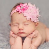 Baby Flower Pearl Head band