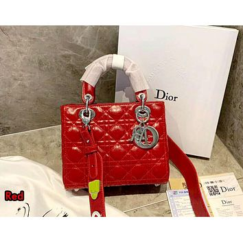 Dior 2019 new women's fashion wild chain shoulder messenger bag Red