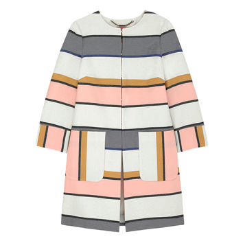 Stripe Edge To Edge Coat | Stripes | CathKidston
