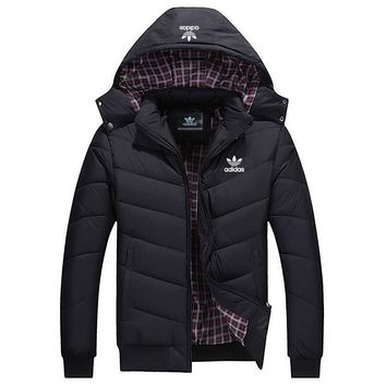 ADIDAS Woman Men Fashion Cotton Cardigan Jacket Coat Windbreaker-3