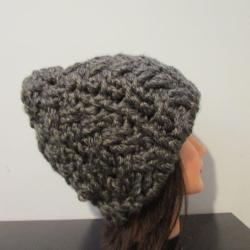 chunky braided skull cap in Granate