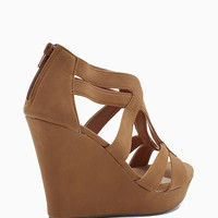 Lindy 3 Multi Strap PU Wedge