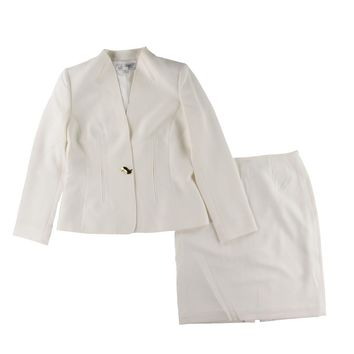 Tahari ASL Womens Crepe 2PC Skirt Suit
