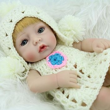 Silicone Baby - Reborn Full Body Doll - 10 Inch Mini Baby Girl Doll