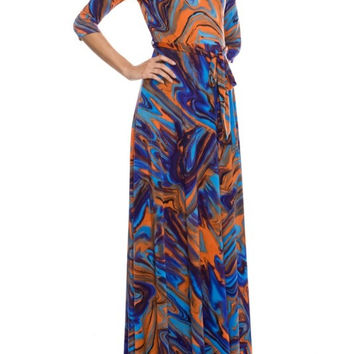 Volcanic Eruption Maxi Dress