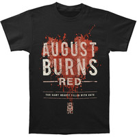 August Burns Red Men's  Hearts Filled Slim Fit T-shirt Black Rockabilia