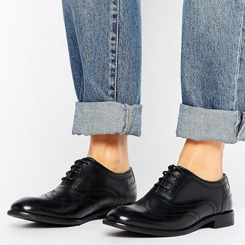 H by Hudson Leather Brogue Shoes at asos.com
