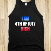 I AM 4TH OF JULY HIGH - underlinedesign tanks
