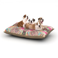 "Danii Pollehn ""Indian Clash"" Pink Multicolor Dog Bed"