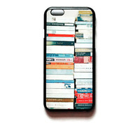 iPhone 6 Case Books On Shelf iPhone 6 Hard Case Bookshelf Back Cover For iPhone 6 Bookworm Slim Design Case 6751