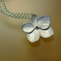 Hydrangea Necklace Sterling Silver made to by PatrickIrlaJewelry
