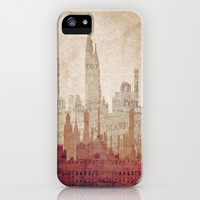 Paper City iPhone & iPod Case by Ally Coxon