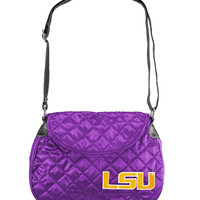 LSU Tigers NCAA Quilted Saddlebag (Purple)