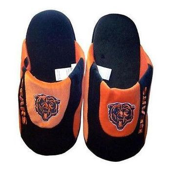Chicago Bears Adult Size Low Pro Stripe Slippers