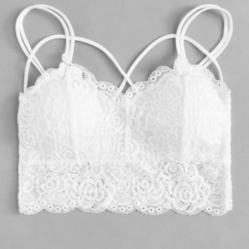 Harness Detail Lace Bralette