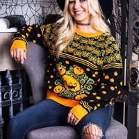 Pumpkin Patch Ugly Halloween Sweater for Adults