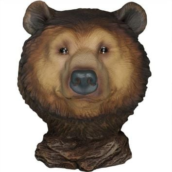 VONEG5F Grizzly Bear Little Head Mini Figurine