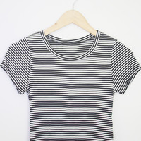 Striped Crop Tee