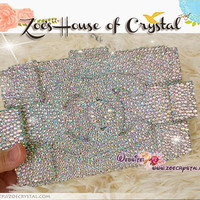 Superb Bling and Sparkly Strass ChanelLego Clutch / Purse Fully Covered with AB white Swarovski / Czech Crystals - ZoeCrystal