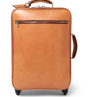 Brunello Cucinelli - Grained-Leather Wheeled Trolley Case