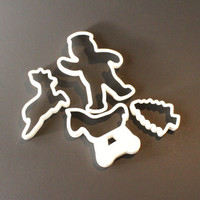 CHRISTMAS Cookie Cutters, Gingerbread Man Cookie Cutter, Rocking Horse cookie cutter, deer, tree, holiday cookie cutter, Christmas bakeware