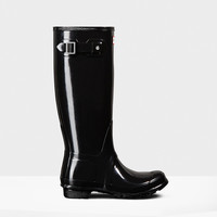 Hunter - Original Tall Gloss Black Rainboot