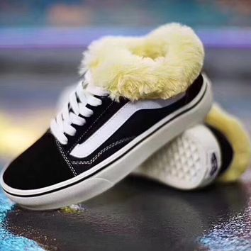 VANS OLD SKOOL Classic all back fur fashion casual shoes