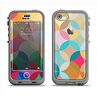 The Overlaping Colorful Connect Circles Apple iPhone 5c LifeProof Nuud Case Skin Set